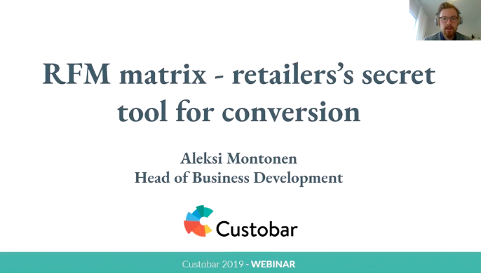 Custobar RFM matrix - webinar recording