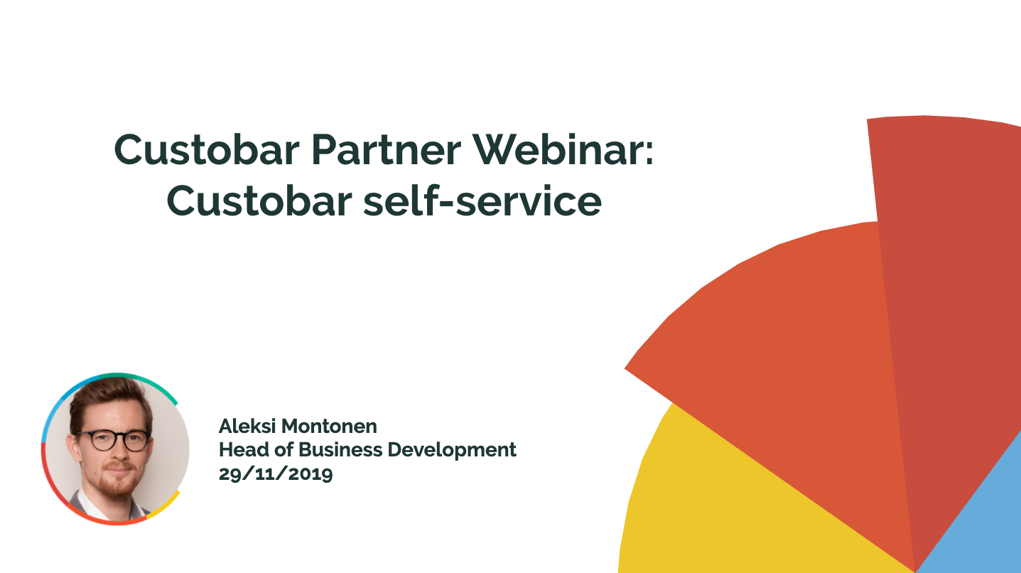 Custobar Self-service - Partner webinar recording